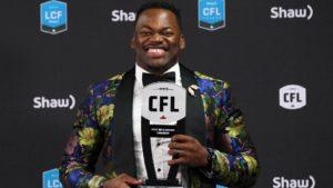 Gala 2019 LCF : Henoc Muamba est le joueur canadien par excellence