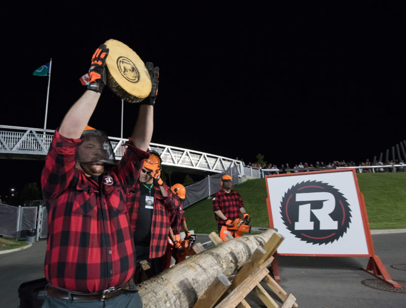 OTTAWA, ON - JULY 20: CFL match between the Ottawa RedBlacks and the B.C. Lions at TD Place Stadium in Ottawa, ON. Canada on July 20, 2018.  PHOTO: Steve Kingsman/Freestyle Photography