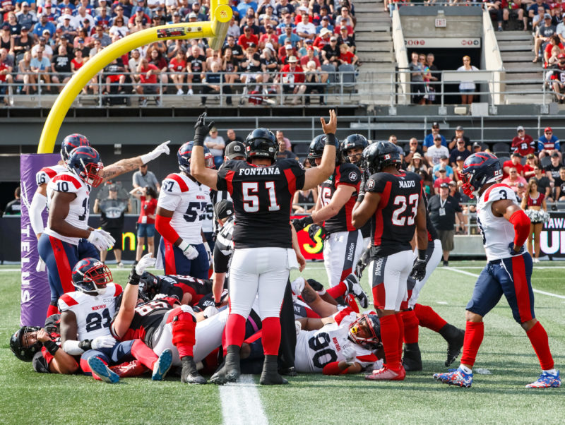 Montreal Alouettes vs Ottawa REDBLACKS July 13, 2019  PHOTO: Andre Ringuette/Freestyle Photography