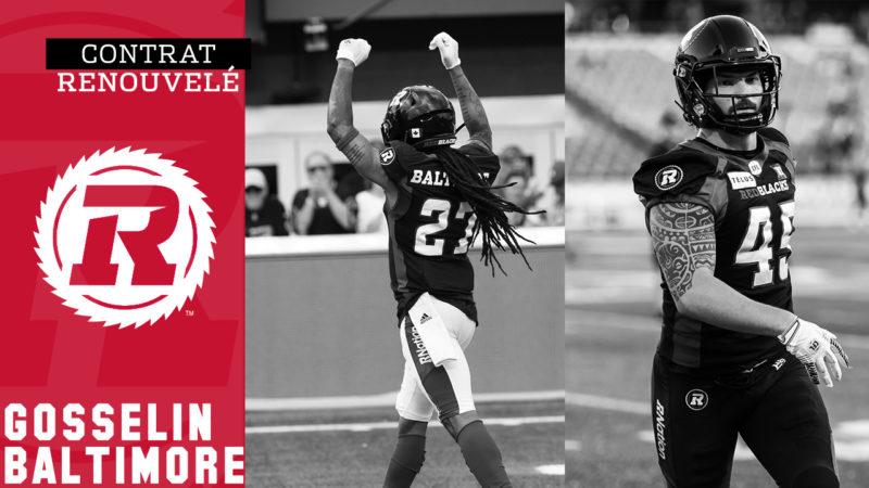 Le ROUGE et NOIR s'entend avec Baltimore et Gosselin pour la saison 2020