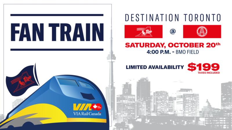 The Montreal Alouettes Fan train