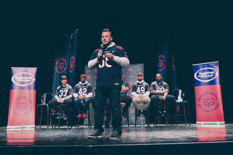 Alouettes launch the 22nd edition of the Together at School program