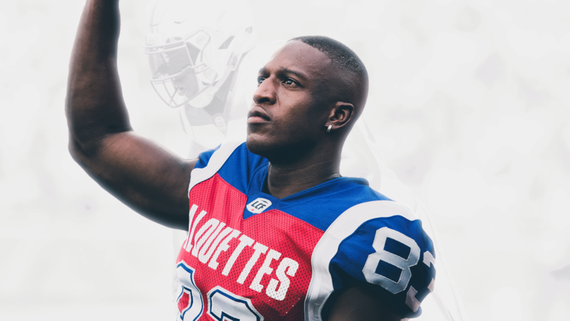Stephen Adekolu, back for a third season with the Alouettes