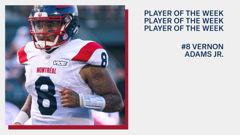 Vernon Adams Jr. named among CFL players of the week