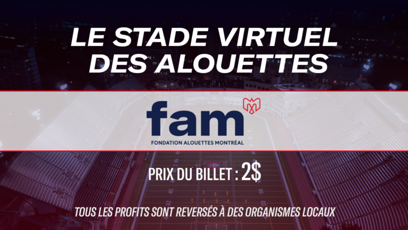 The Alouettes virtual stadium : help the community