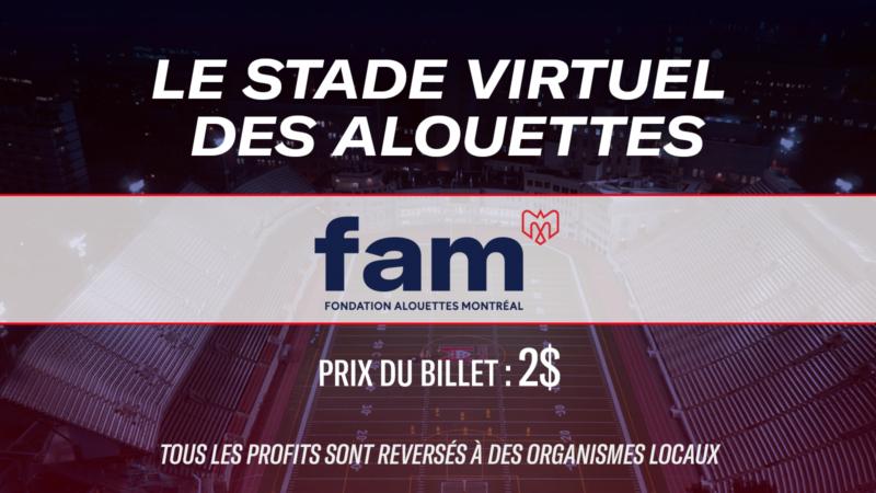The Alouettes virtual stadium : help the community