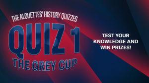 Quiz week 1: the Grey Cups