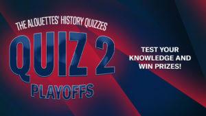 Quiz week 2: the Playoffs
