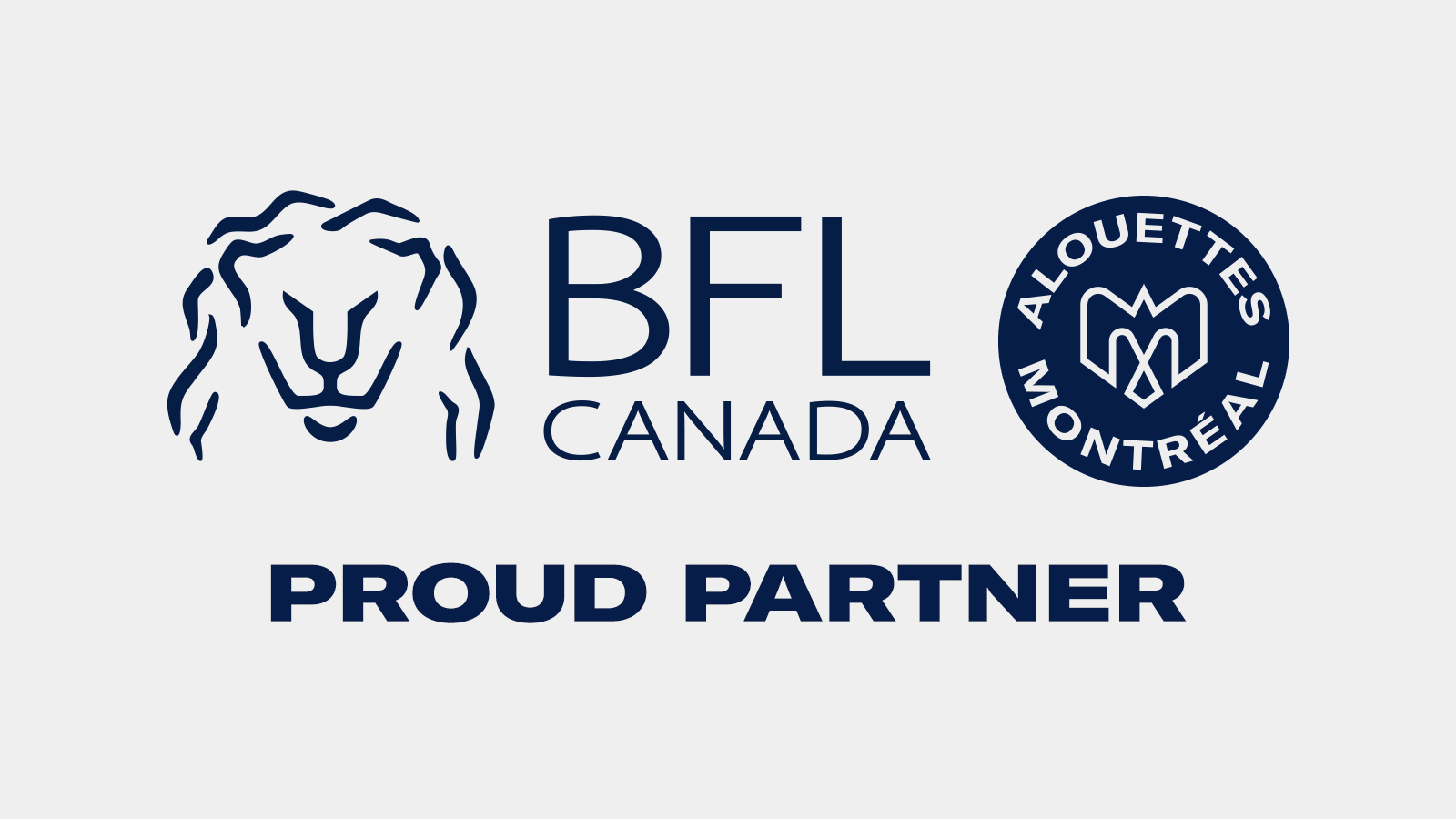 The Montreal Alouettes team up with BFL CANADA