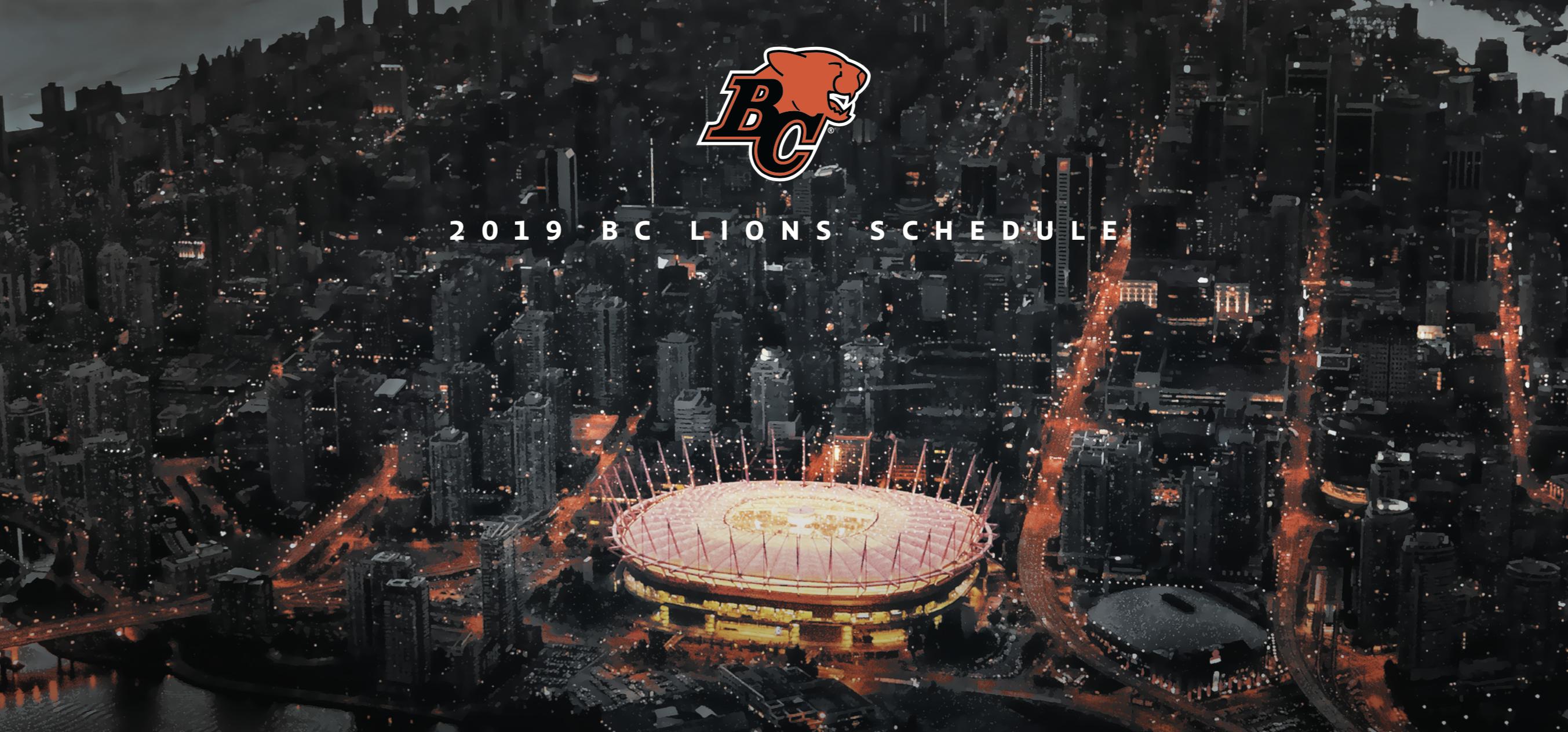 Schedule - BC Lions