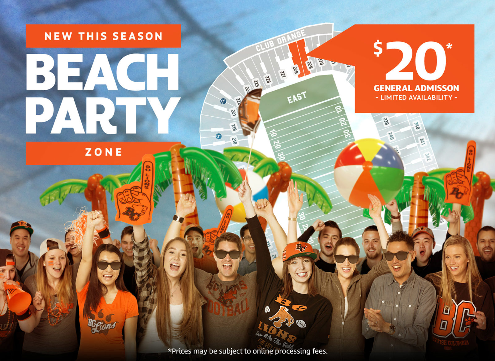 BC LIONS BEACH PARTY!