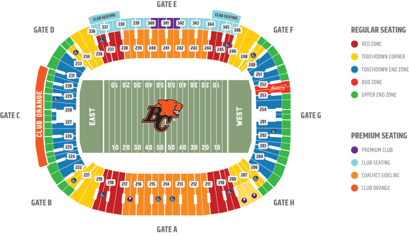 Bc Place Seating Map Bc Place Seating Map | compressportnederland Bc Place Seating Map