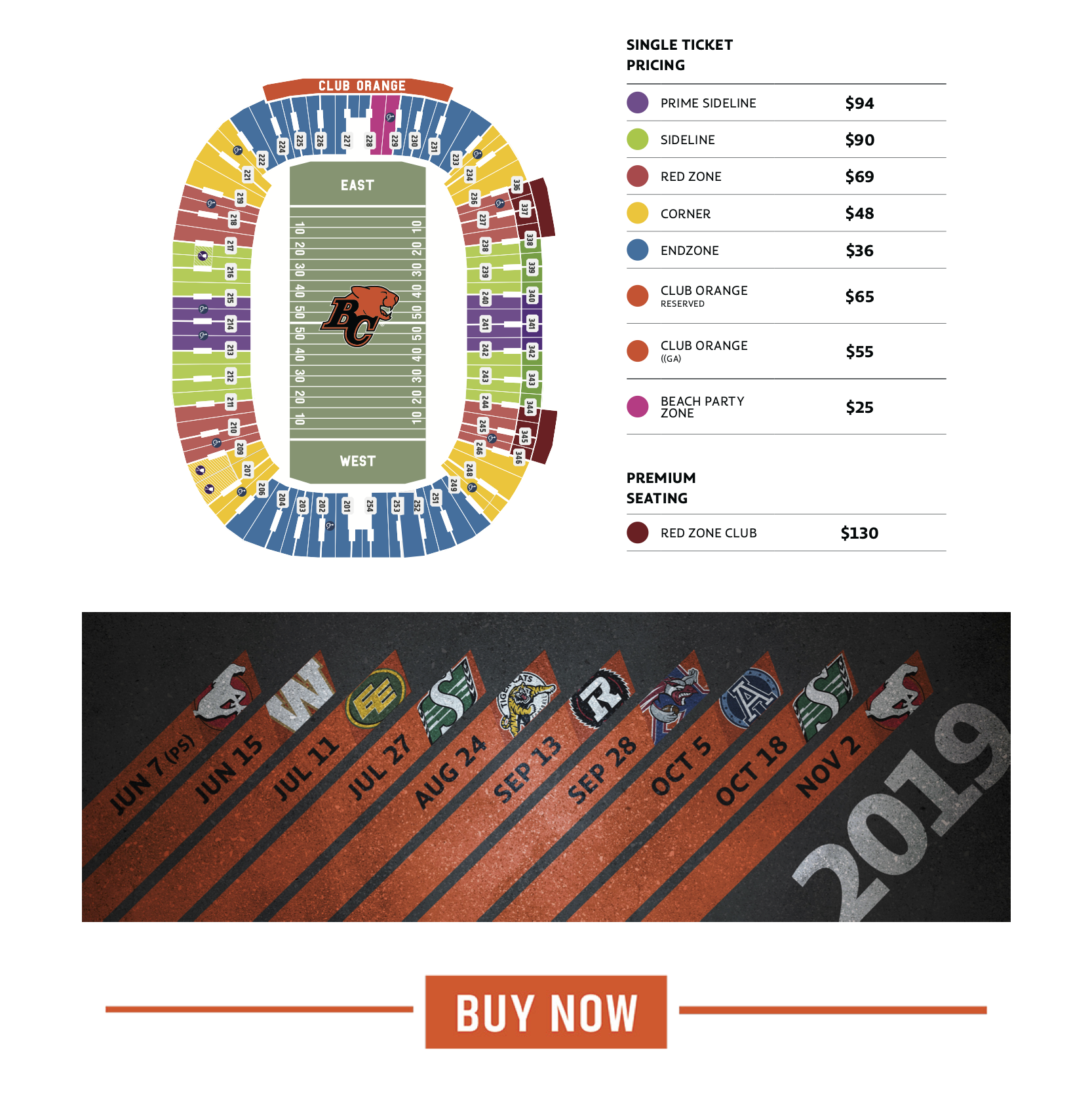 Single Game Tickets - 2019 Season - BC Lions Football at ...