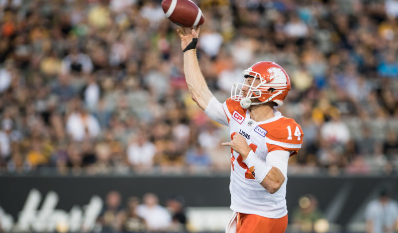 From Baker's Archives: On a steamy night in Steeltown, quarterback Travis Lulay came off the bench and set career and league records in a convincing win.