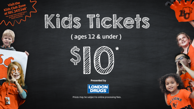 724214be BC Lions Football - Kids Season Tickets - $85 ALL IN - Fun for the ...