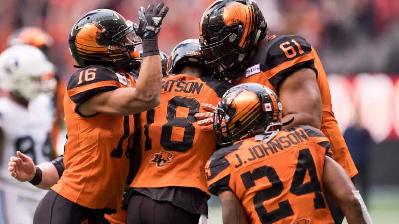 BC Lions Interception Leads to Touchdown