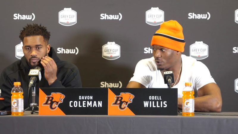 Pre-Game | Odell Willis and Davon Coleman