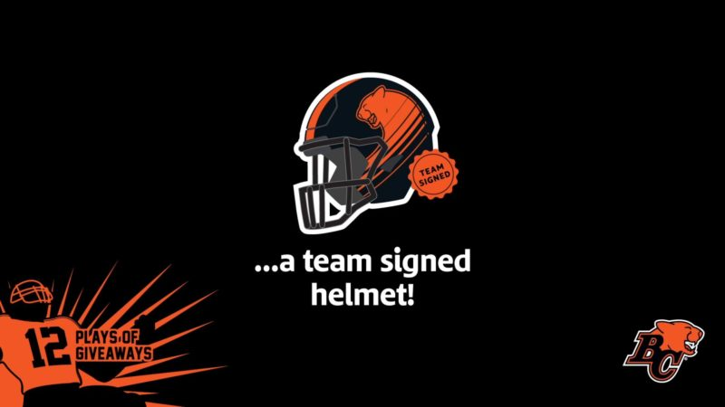 12 PLAYS OF GIVEAWAYS – DAY 6- 6 SIGNED TEAM HELMETS