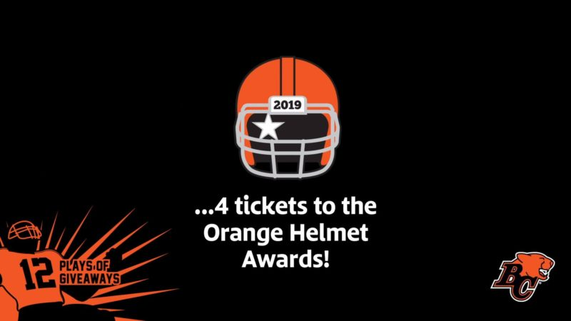 12 PLAYS OF GIVEAWAYS- DAY 4 – 4 Tickets to the Orange Helmet Awards