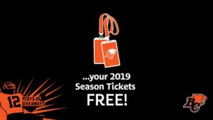 12 PLAYS OF GIVEAWAYS- DAY 3 – FREE 2019 SEASON TIX for 3 people!