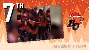 BC LIONS ADVENT CALENDAR: DAY 7