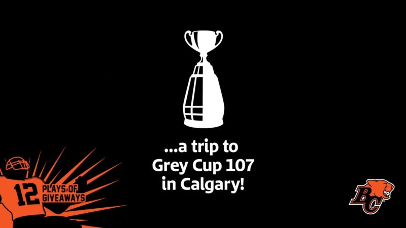 12 PLAYS OF GIVEAWAYS- DAY 1- A TRIP FOR 2 TO 107TH GREY CUP