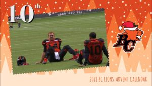 BC LIONS ADVENT CALENDAR: DAY 10