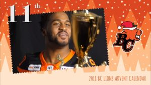 BC LIONS ADVENT CALENDAR: DAY 11