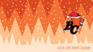 2018 BC LIONS ADVENT CALENDAR