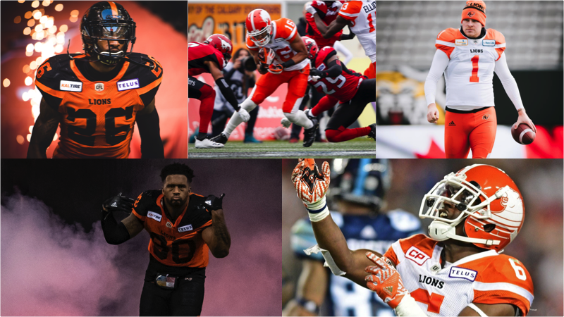 5 Lions Named CFL All-Stars
