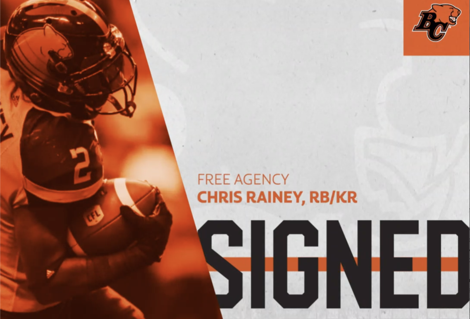 Rain Man Returns! - BC Lions