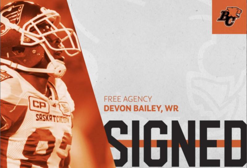 Lions Sign Free Agent Wide Receiver Devon Bailey