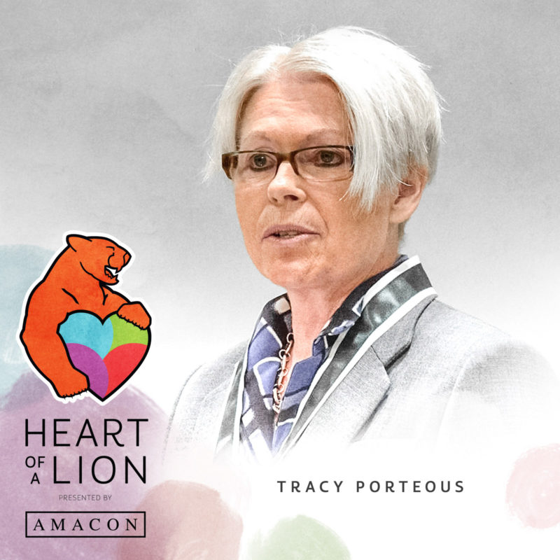 Tracy Porteous - Heart of a Lion Heroes Award Recipient