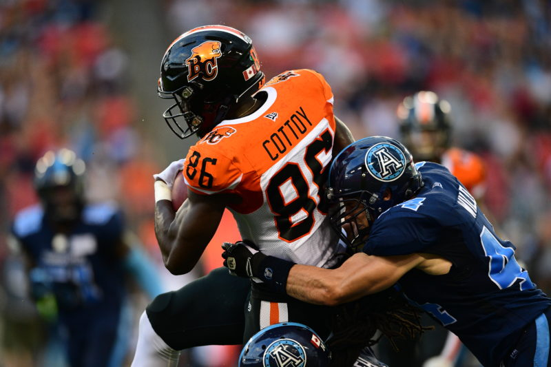 Jevon Cottoy of the BC Lions