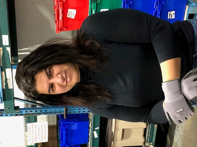 Feezah Jaffer at the food bank