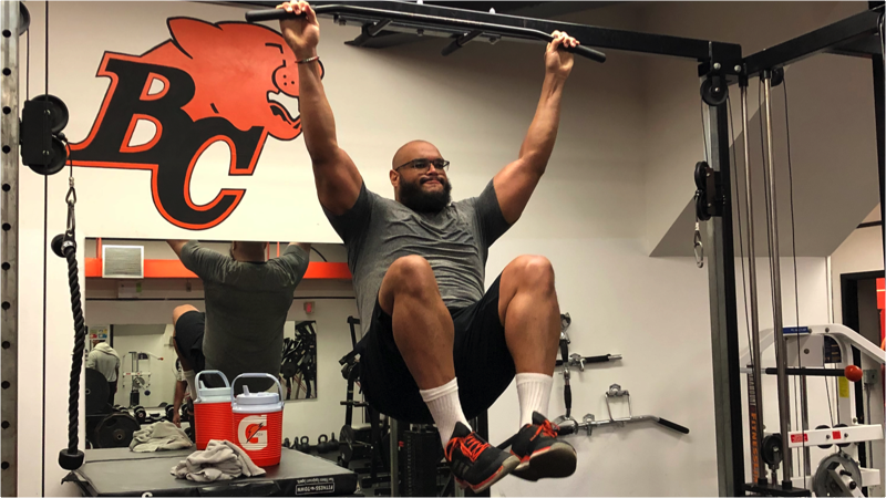 As a result of COVID-19, Joel Figueroa elected to stay in the lower mainland all spring. He has used the opportunity to work out with teammates in Surrey.