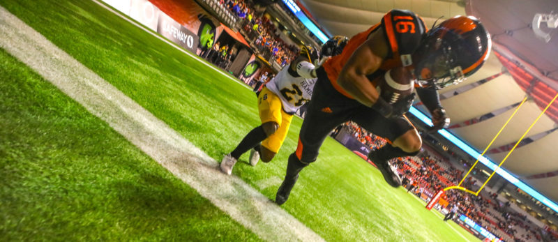 From highlight-reel catches to crazy late-game decisions. Baker's Archives looks back at a thrilling comeback win over Hamilton in 2018.