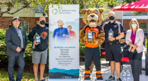BC Lions team up to donate 400L of hand sanitizer to BC Seniors