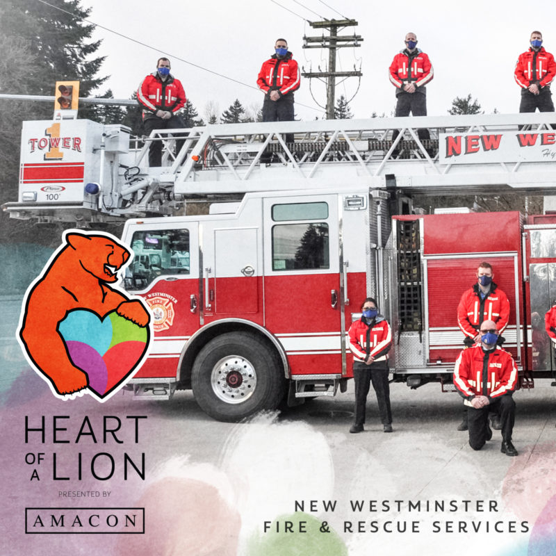 New Westminster Fire and Rescue Services - Heart of a Lion Heroes Award Recipient