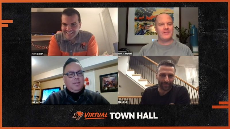 BC Lions Virtual Town Hall – Exclusive Season Ticket Member Q& A – Feb 2021