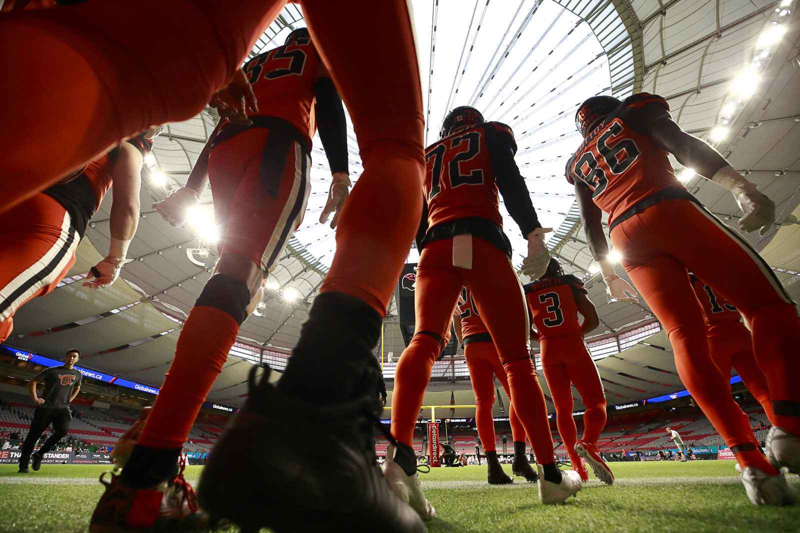 VANCOUVER, BC - SEPTEMBER 28:  The Montreal Alouettes play the BC Lions in their CFL game September 28, 2019 at BC Place in Vancouver, BC.  (Photo by Jeff Vinnick/BC Lions)