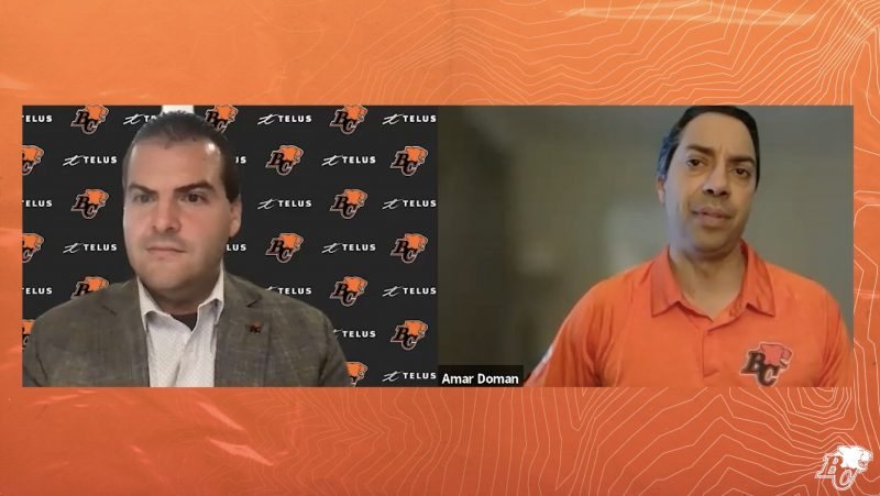 BC Lions Town Hall with Amar Doman