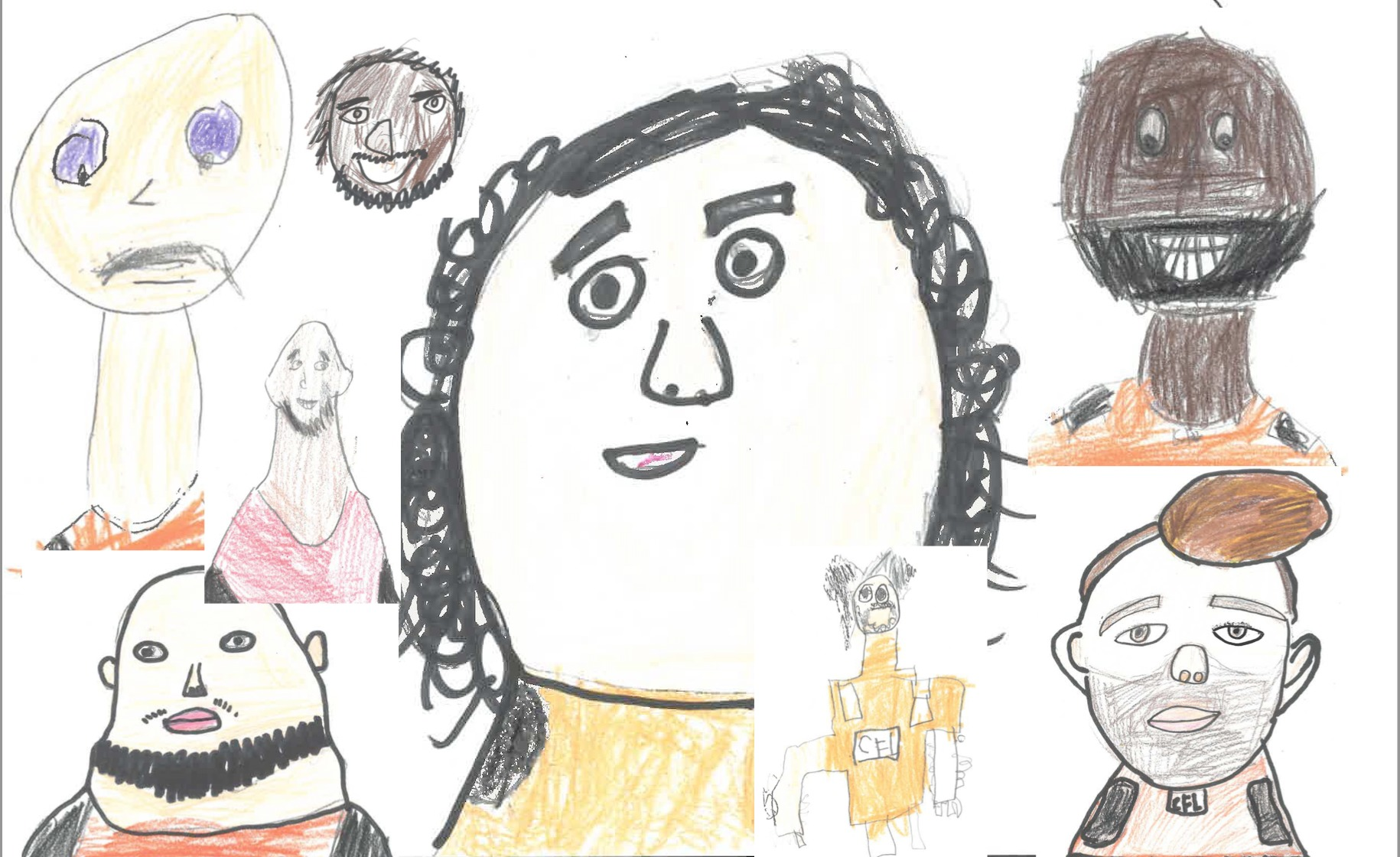 Grade 2 Portraits of BC Lions Players