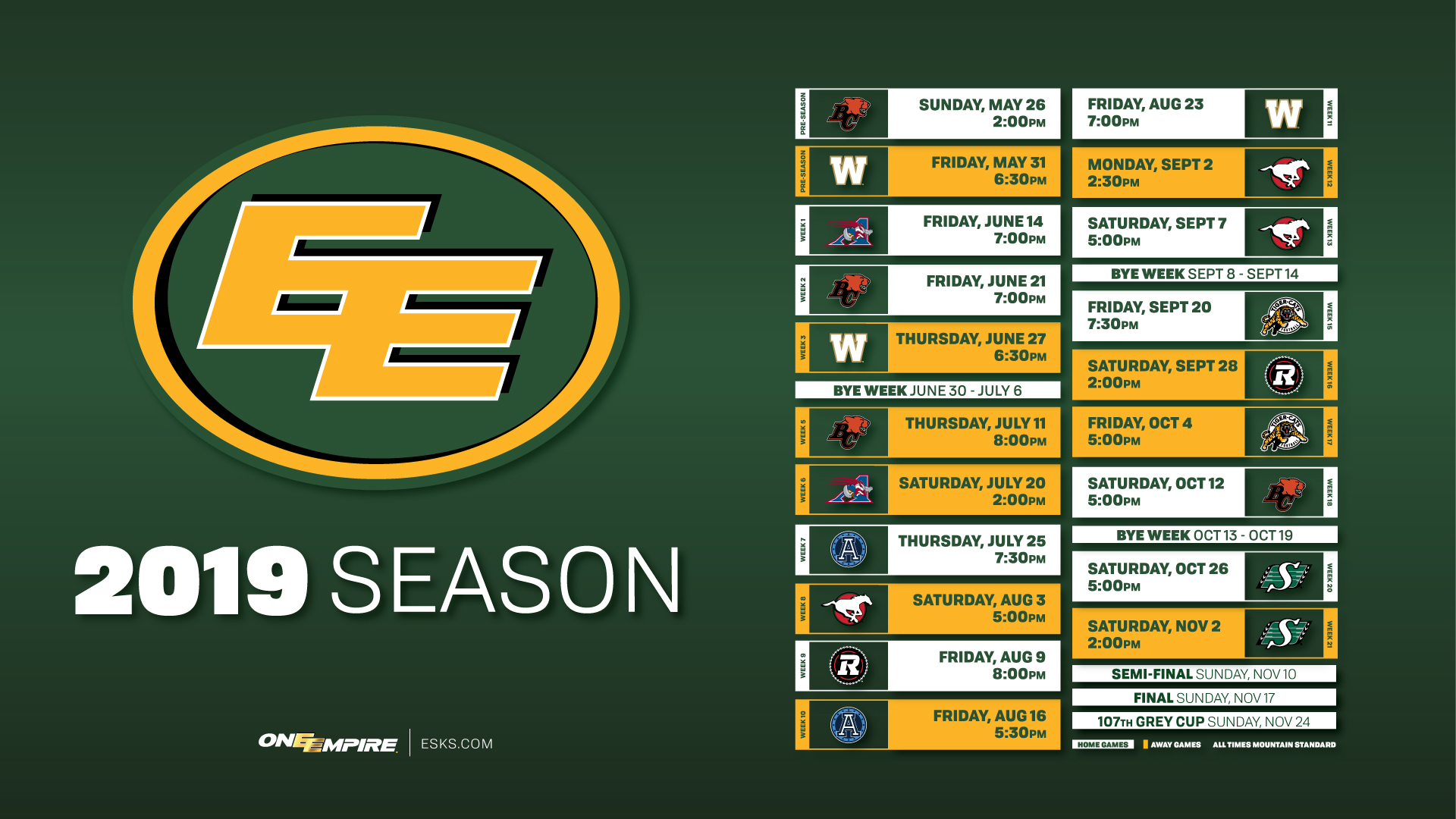 photo about Boston Bruins Printable Schedule titled 2019 Time Timetable Is Right here! - Edmonton Eskimos