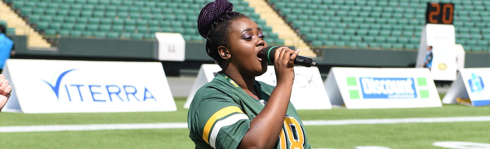 Eskimos Anthem Singer Shines Like CFL's Diversity Is Strength