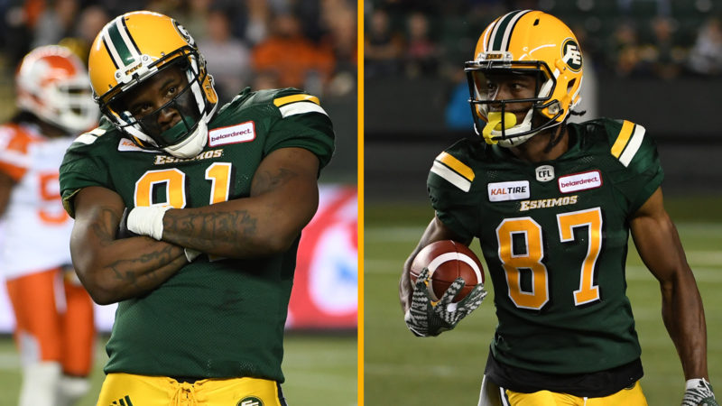Two Eskimos Named to West Division All-Star Team