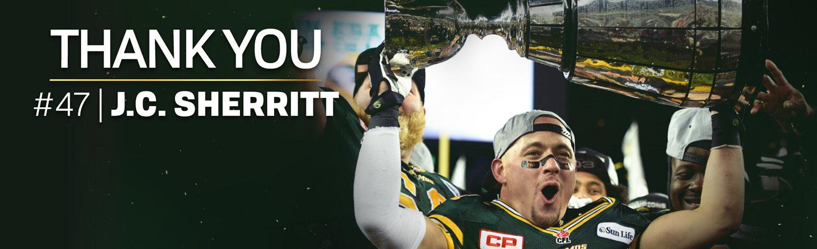 Eskimos J.C. Sherritt Retires From Professional Football - Edmonton Eskimos