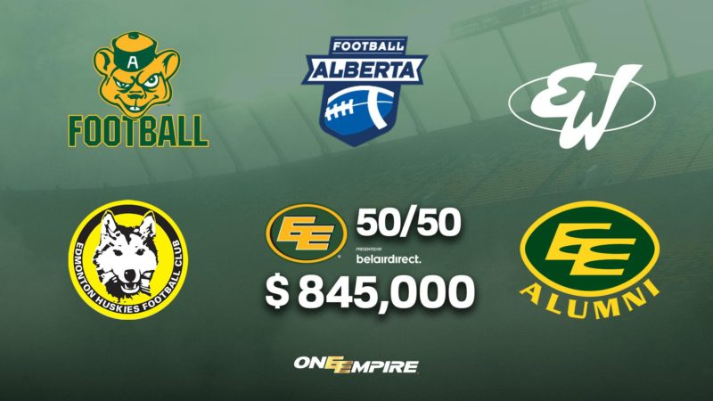 Eskimos Donate $845,000 to Amateur Football
