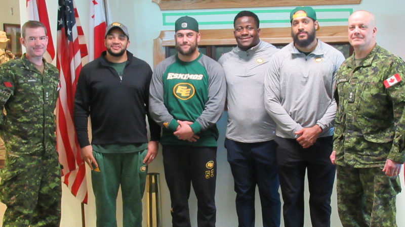 CFB Wainwright Visit Motivates Eskimos Players