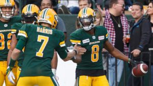 Harris fires to Stafford for 1st major as an Eskimo